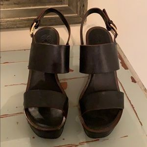 Tory Burch black wedges. Size 7.5